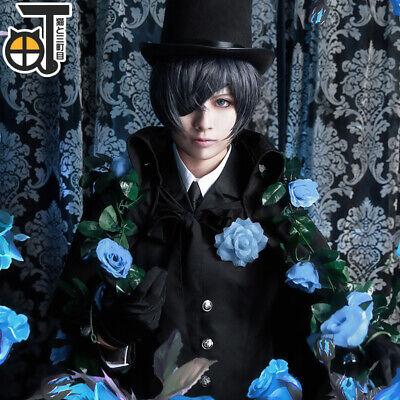 Black Bulter Ciel Phantomhive Kostüm Full Black Suits Halloween Cosplay Outfit