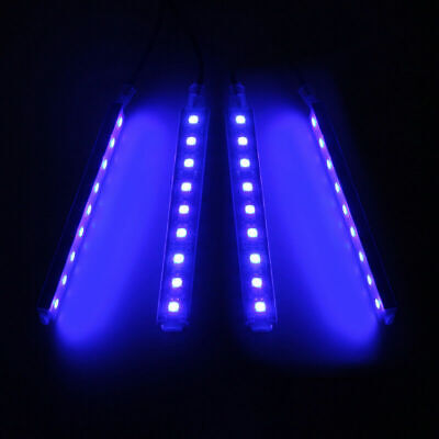 4 In 1 12V Blue LED Car Atmosphere Lamp Charge Interior/Outdoor Floor Lights Atmosphere Outdoor Floor Lamp
