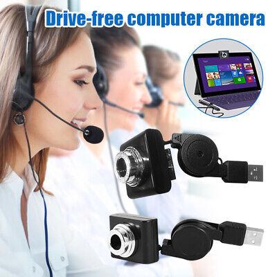 Webcam Web Cam Kamera für Computer PC Laptop Desktop HD USB2.0 Neu für zu Hause