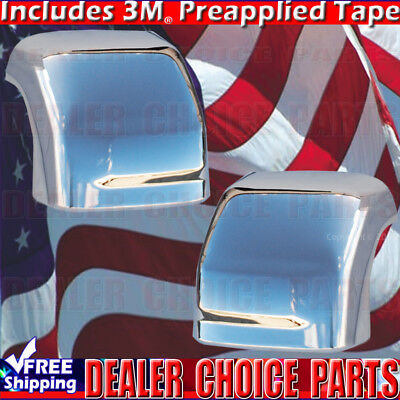 - Chrome Mirror COVERS For 2016 17 18 2019 NISSAN TITAN XD W/Signal Hole *Towing*