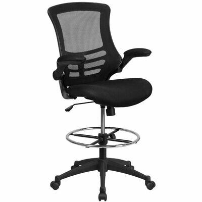 Scranton Co Mid Back Mesh Drafting Chair In Black