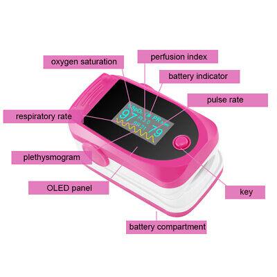 Saleoximeter Pulse Finger Tip Blood Oxygen Spo2 Monitor Pr Pi Respiration Rate