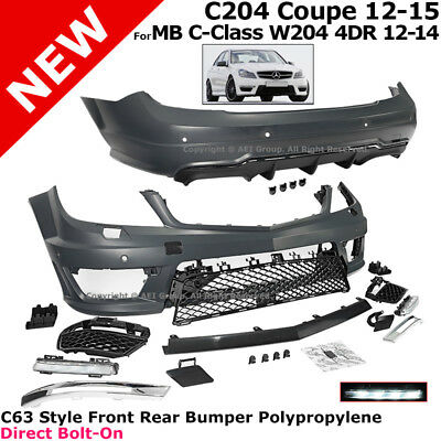 Full Body Kit W204 C204 Mercedes Benz 2012-2015 Front Rear Bumpers Sedan Coupe