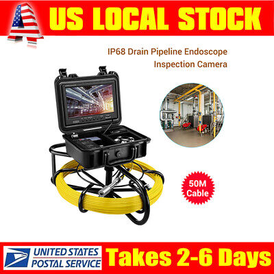 9 164ft Pipeline Inspection System 23mm Waterproof Sewer Camera Video Dvr 8gb