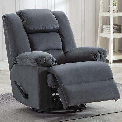 Swivel Glider Rocker Recliner Chair Ergonomic Armrest Overstuffed Sofa Furniture