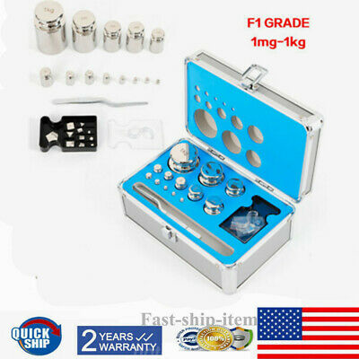 F1 Class 1mg-1kg Stainless Steel Calibration Weight Kit Set For Scale Balance