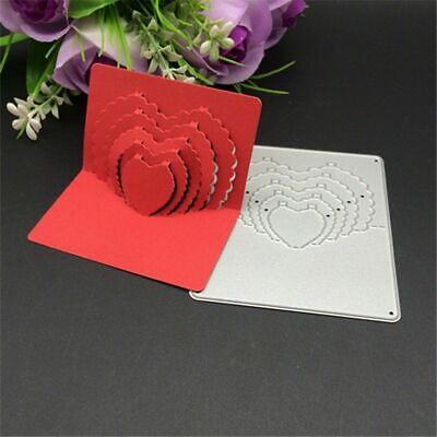 3D Stereo heart Style Cutting Dies Metal Embossing Decoration Stencil Cutter New