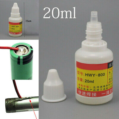 1pcs Hwy-800 Stainless Steel Flux Soldering Paste Liquid Welding Aid Tools 20ml