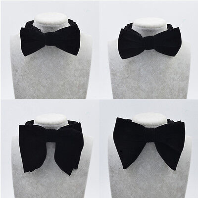 (Men Bow Tie Clothes Decoration Accessories Adjustable Black Wedding Party Gift)