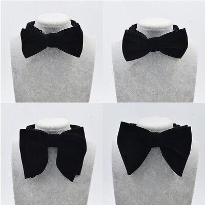 (Men Bow Tie Clothes Decoration Accessories Adjustable Black Wedding Party Gift)