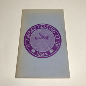 Vintage Mount Hope Glanford Curling Club Book Bill Brigham
