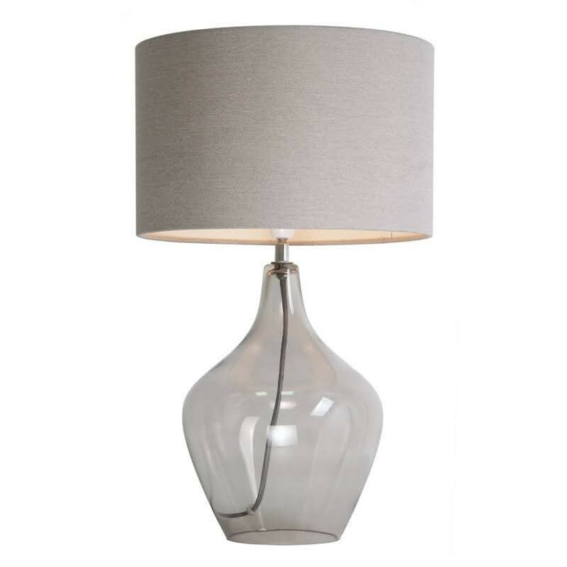 Home collection smoked glass highgate table lamp from debenhams