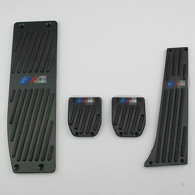 4pcs/set Set Black Foot Rest Pedals MT Pads for BMW E30 E36 E46 E87 E90 E91 E92