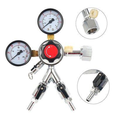 Adjustable Pressure Co2 Regulator Dual Gauge Draft Beer Homebrew Kegerator