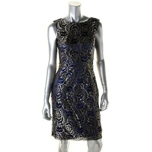 BNWT JS Collections Royal Blue/Gold lace Dress Size 14 Kitchener / Waterloo Kitchener Area image 1