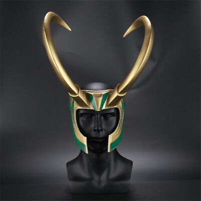 2017 Movie Thor 3 Ragnarok Loki Laufeyson PVC Cosplay Mask Helmet Halloween Prop
