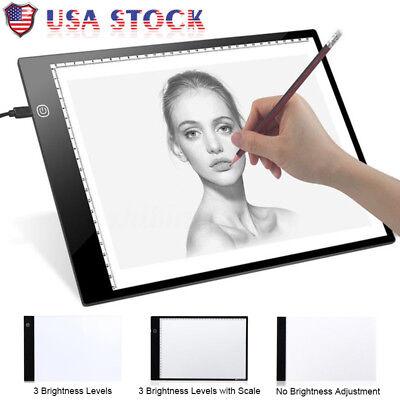 LED Tracing Light Box Board Art Tattoo A4 Drawing Pad Table Stencil Display BS