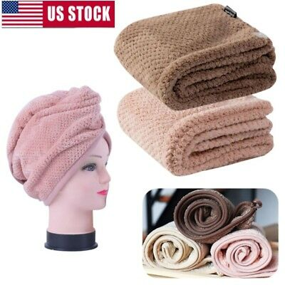 Women Microfiber Twist Dry Shower Hair Wrap Towel Drying Bath Spa Head Cap Hat](Shower Wrap)