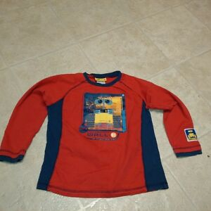 Boys Size 6X Wallie Long Sleeve Red T-Shirt by Disney