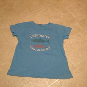 Boys Size 7 Hatley Deep Water Short Sleeve T-Shirt in Blue