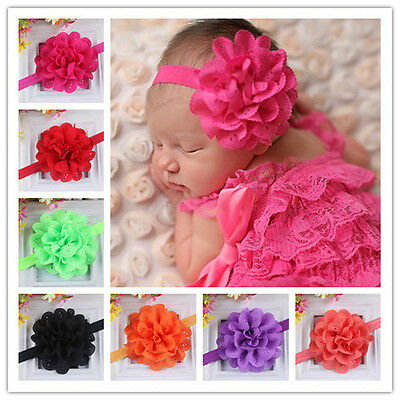 10PCS Kids Girl Baby Headband Toddler Bow Flower Hair Band Accessories Headwear
