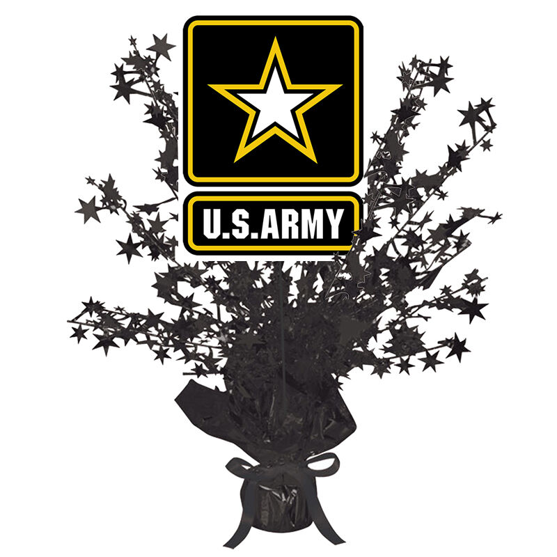 US Army Party Supplies ARMY STRONG CENTERPIECE DECORATION