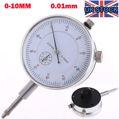 NEW 0-10MM Precision Outer Measuring Metric Test Dial Gauge Indicator DTI Clock