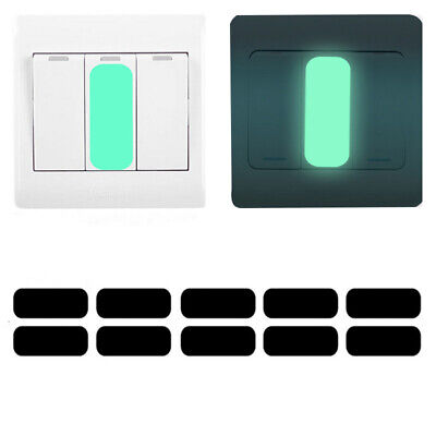 10x Luminous Switch Sticker Glow in the Dark Wall Sticker Decals Night Light GI (Glow In The Dark Lighting)