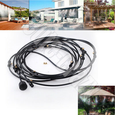 6/8/10M Outdoor Misting System Fan Cooler Water Cooling Patio Mist Garden Spray