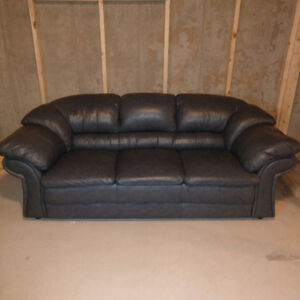Leather couch, love seat, recliner and bar stools for sale