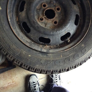 Goodyear winter tires and rims Kitchener / Waterloo Kitchener Area image 4