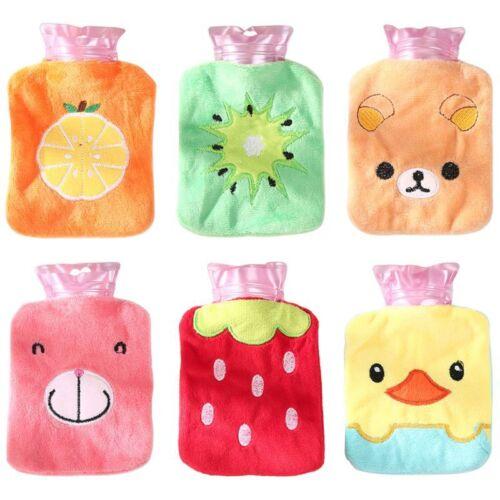 1Pc Mini Handy Hot Water Bottle Bag Plush Hand Feet Warmer T