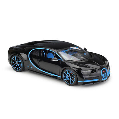 Bburago 1 18 Bugatti Chiron Black Diecast Model Racing Car Vehicle New In Box