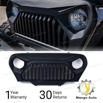 New 97 - 06 Jeep Wrangler TJ LJ Front Matte Black Gladiator Vader Grille Grid