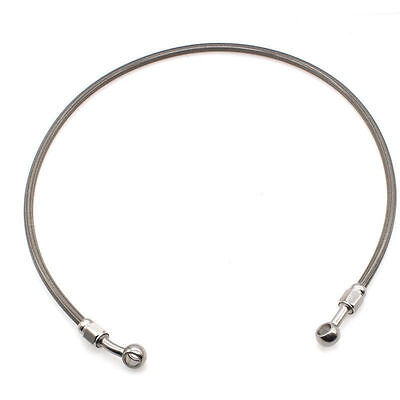 Gray Motorcycle Motorbike Moto ATV Pit Bike Braided Brake Oil Hose Line 90cm UK