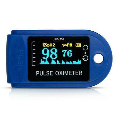 Finger Pulse Oximeter Blood Oxygen Saturation Spo2 Heart Rate O2 Monitor Ce
