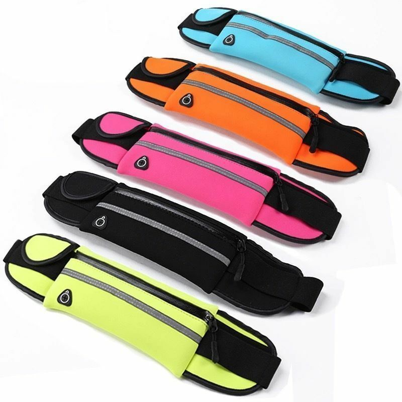 Unisex Sport Waist Bum-Bag Runner Jogger Travel Belt Pouch Zip Fanny Casual Pack Bags