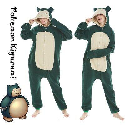 Pokemon Kigurumi Pajamas Snorlax Kabigon Costume Unisex Cosplay Halloween (Snorlax Cosplay Kostüm)