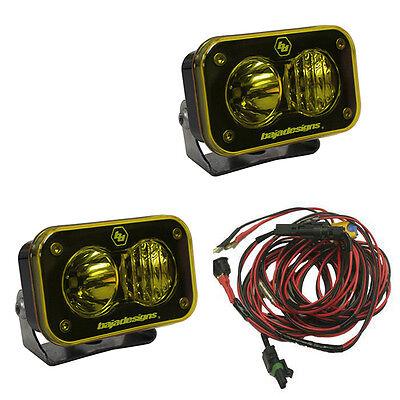 Baja Designs UTV S2 Pro Pair Driving Combo LED Lights Amber
