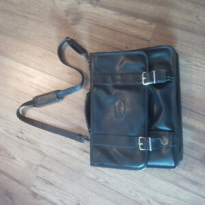 All Leather Bugatti Messenger Carry-On