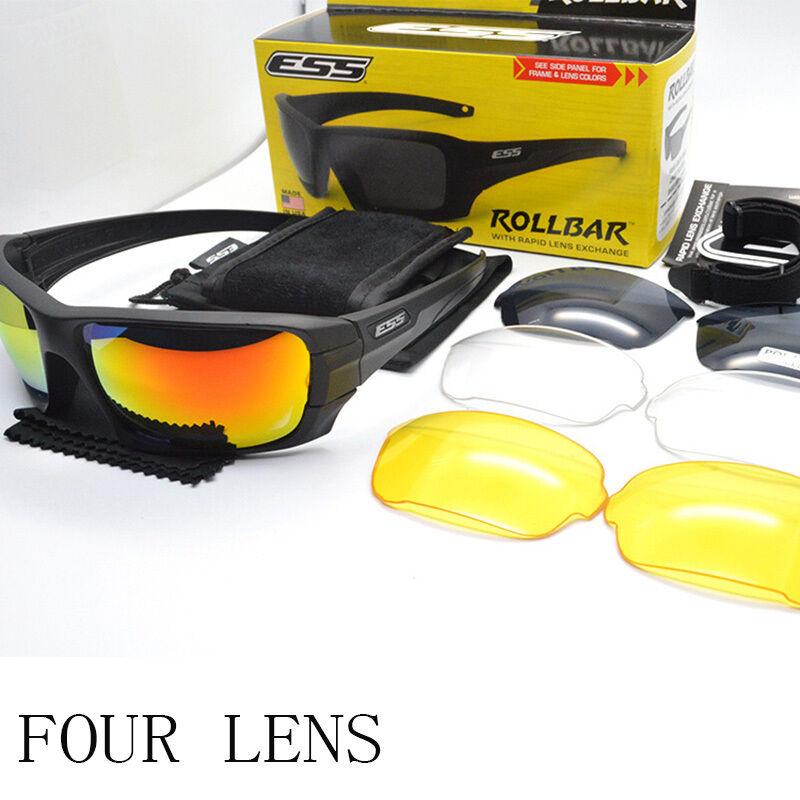 ESS ROLLBAR Polarized Tactical Sunglasses Military TR90 Cros