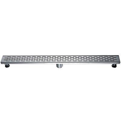 "ALFI brand ABLD36C 36"" Modern Stainless Steel Linear Shower Drain W/Groove Holes"