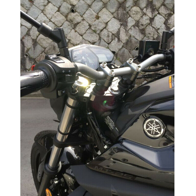 CNC Handle Bar Mount Clamps Risers For Triumph Street Triple RS Street Twin