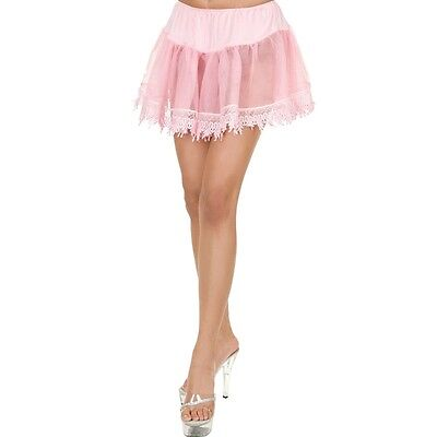 PINK TEAR DROP PETTICOAT Std Adult One Size Womens Slip under Sexy Lady (Pink Slip Kostüm)