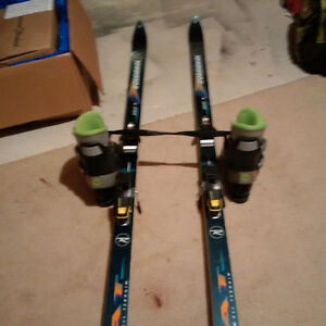 Men's Size 8 Downhill Skis and Boots