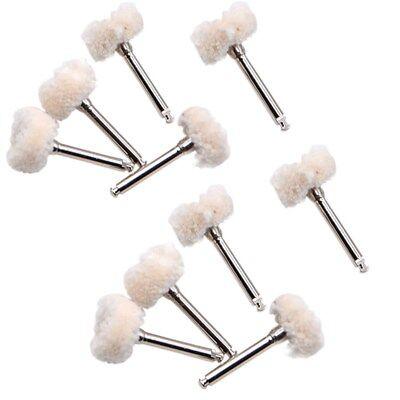 10pc Dental Polishing Wheel Wool Cotton Polisher Prophy Brushes F Rotary Tools