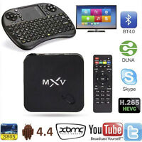 Android TV MXV (BT 4.0) Kodi (Loaded w/apps) + KEYBOARD Included