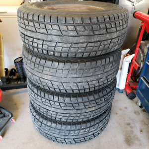 Yokohama iceGUARD iG51v 265/70R17 Truck Winter Tires on rims