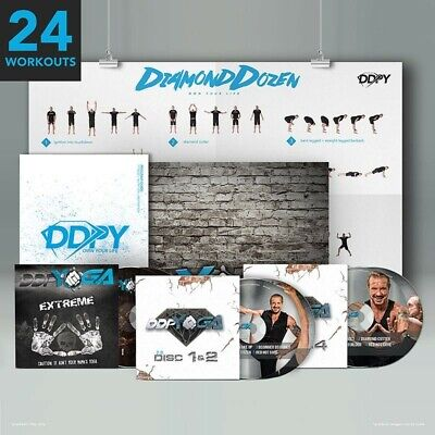 DDP Yoga 2.0 DVD discs 1-4 with Poster & Program Guide plus extreme DVDs too!