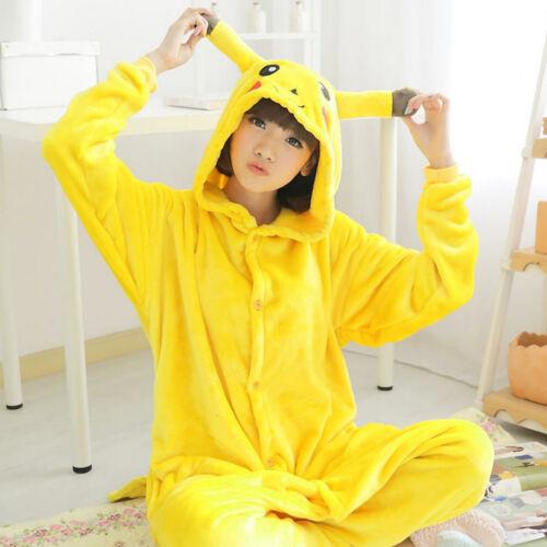 c1aea09a0310 Adult Kid Pokemon Pikachu Kigurumi Pajamas Cosplay Costume Sleepwear ...
